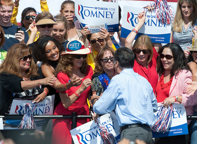 UNITED STATES - SEPT 13 : Mitt Romney campaigns in Virginia at a political rally at Van Dyck Park in Fairfax, Virginia. The event was attended by around 3000 people onThursday, September 13, 2012.(Photo By Douglas Graham/CQ Roll Call)