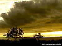 before storm in morbilange, sweden