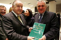 3/11/06 Former Taoiseach Albert Reynolds with Taoiseach Bertie Ahern at the launch of the fourth edition of Who's Who- The Influential Irish 2007 at Brown Thomas, Grafton Street. Picture:Arthur Carron/Collins