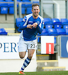 St Johnstone v St Mirren.....23.02.13      SPL.Rowan Vine celebrates his goal.Picture by Graeme Hart..Copyright Perthshire Picture Agency.Tel: 01738 623350  Mobile: 07990 594431