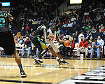 "Ole Miss' Reginald Buckner (23) vs. Coastal Carolina's El Hadji Ndieguene (11) at the C.M. ""Tad"" Smith Coliseum in Oxford, Miss. on Tuesday, November 13, 2012. (AP Photo/Oxford Eagle, Bruce Newman)"