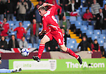 Simon Church scores Wales 2nd Goal. England U21 V Wales U21, Uefa European U21 Championship qualifying play-off second leg  &copy; Ian Cook IJC Photography iancook@ijcphotography.co.uk www.ijcphotography.co.ukUnholy Alliance Tour 2008,