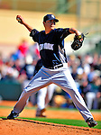 2 March 2009: New York Yankees' pitcher Anthony Claggett on the mound during a Spring Training game against the Houston Astros at Osceola County Stadium in Kissimmee, Florida. The teams played to a 5-5, 9-inning tie. Mandatory Photo Credit: Ed Wolfstein Photo