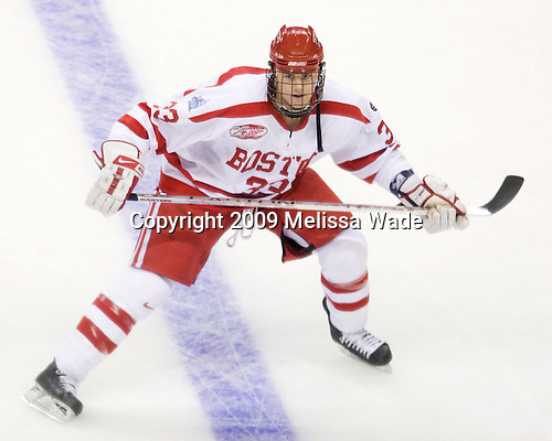 Colin Wilson (BU - 33) - The Boston University Terriers defeated the University of Vermont Catamounts 5-4 on Thursday, April 9, 2009, in the 2009 Frozen Four Semi-Final at the Verizon Center in Washington, DC.