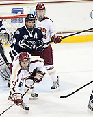Teddy Doherty (BC - 4), Brett Kostolansky (UNH - 15), Brooks Dyroff (BC - 14) - The Boston College Eagles and University of New Hampshire Wildcats tied 4-4 on Sunday, February 17, 2013, at Kelley Rink in Conte Forum in Chestnut Hill, Massachusetts.