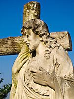 Statue in City Cemetery in Vicksburg Mississippi.