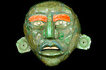 Shell and jade mosaic belt mask, Cahal Pech, Belize