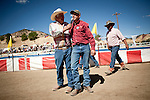 Jim Hedrick, left, congratulates Shane Harrington, of Klamath Falls, Oregon on his win at the 51st annual International Camel Races in Virginia City, Nevada  September 12, 2010. .CREDIT: Max Whittaker for The Wall Street Journal.CAMEL