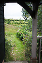 View from porch of garden study, Fairlight End, Pett, East Sussex, late June.