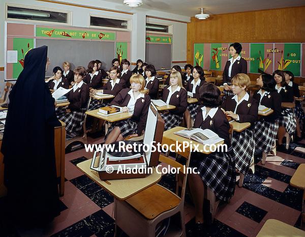 Saint John Villa Academy, NY. Music appreciation class taught by a nun.
