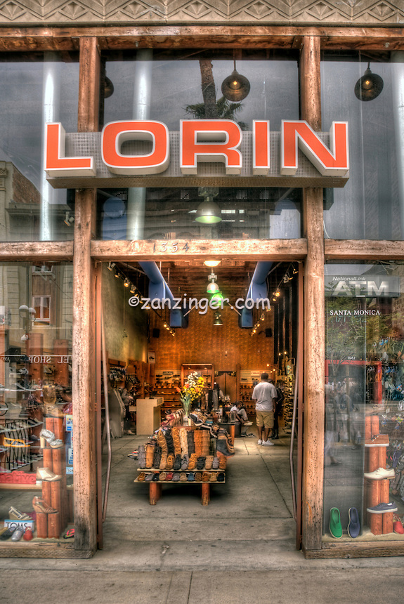 Lorin, eco-friendly shoe Store, Third Street Promenade, Downtown,  Santa Monica; CA;, Third Street Promenade, Downtown,  stores, shopping, street mall; beach community, retail stores, open-air, Santa Monica; CA;