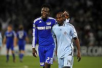 Kei Kamara, Omar Cummings #14...Kansas City Wizards defeated Colorado Rapids 1-0 at Community America Ballpark, Kansas City,Kansas.