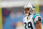 Carolina Panthers wide receiver Steve Smith takes some pre-game drills prior to facing the Buffalo Bills on November 27, 2005 at Ralph Wilson Stadium in Orchard Park, NY. The Panthers defeated the Bills 13-9. Mandatory Photo Credit: Ed Wolfstein