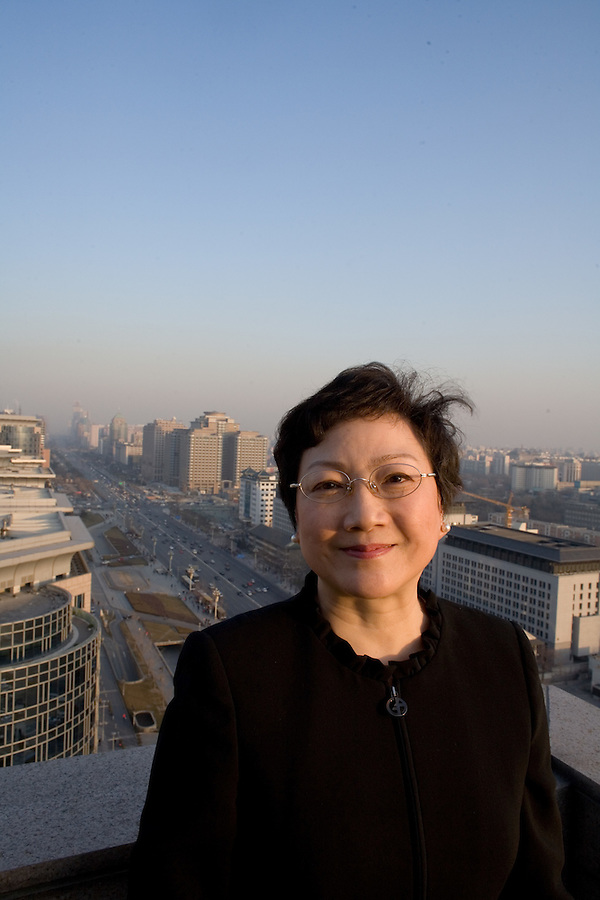 Daughter of the lat Deng Xiaoping, Deng Rong at the Beijing Hotel Monday January 8, 2007.