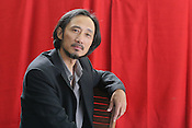 Ma Jian, one of China'smost influential writers, now living in exile, appearing at an Edinburgh International Book Festival photo call in Edinburgh, on Saturday 12th August 2006. Over 600 authors from 35 countries are appearing at the Edinburgh International Book festival during 12th-28th August. The festival takes place in historic Edinburgh city, a UNESCO City of Literature. Ma Jian's book 'Stick Out Your Tongue' was banned in China.
