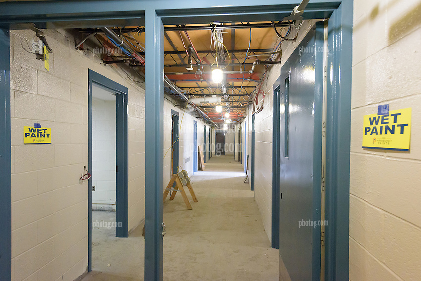 Major Renovation Litchfield Hall WCSU Danbury CT<br /> Connecticut State Project No: CF-RD-275<br /> Architect: OakPark Architects LLC  Contractor: Nosal Builders<br /> James R Anderson Photography New Haven CT photog.com<br /> Date of Photograph: 27 January 2017<br /> Camera View: 18 - Third Floor South Corridor