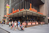 The Times Square branch of Junior's Restaurant on Friday, July 15, 2016. The original is located in downtown Brooklyn and is beloved for it's famous cheesecake. Junior's is reported to be opening a second space in Times Square in the now closed Ruby Foo's location. The new restaurant will seat 300 people. (© Richard B. Levine)