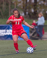 Marist College forward/midfielder Nicole Kuhar (11) controls the ball at midfield.  Boston College defeated Marist College, 6-1, in NCAA tournament play at Newton Campus Field, November 13, 2011.