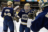 Bryan Rust (Notre Dame - 21) - The University of Notre Dame Fighting Irish defeated the Merrimack College Warriors 4-3 in overtime in their NCAA Northeast Regional Semi-Final on Saturday, March 26, 2011, at Verizon Wireless Arena in Manchester, New Hampshire.