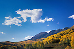 Clouds, autumn quaking aspen, and The Anthracite Range, Gunnison National Forest, Colorado