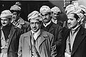 Iraq 1974 <br /> The resumption of hostilities, from left to right, Yonan Berro Hormiz with the 2 sons of General Barzani, Idris and Masoud Barzani and their peshmergas   <br /> Irak 1974 <br /> La reprise de la lutte arm&eacute;e, de gauche a droite, Yonan Berro Hormiz et les 2 fils du General Barzani, Idris et Masoud Barzani avec leurs peshmergas