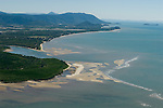 Aerial view of Mudflats and mangroves near Cairns