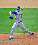 22 June 2008: Texas Rangers' relief pitcher C.J. Wilson in action against the Washington Nationals at Nationals Park in Washington, DC. The Rangers defeated the Nationals 5-3 in the final game of their 3-game inter-league series...Mandatory Photo Credit: Ed Wolfstein Photo