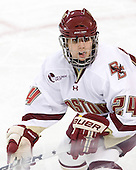 Meagan Mangene's (BC - 24) brother Matt played for Maine against Boston College earlier in the day at Conte Forum. - The visiting Boston University Terriers defeated the Boston College Eagles 1-0 on Sunday, November 21, 2010, at Conte Forum in Chestnut Hill, Massachusetts.