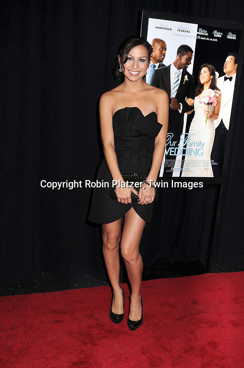 "actress Anjelah Johnson attending The screeening of ""Our Family Wedding"" on March 9, 2010 at The Loews Lincoln Square Theatre in New York City."