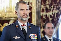 MAR 23 King Felipe Holds Minute of Silence for London Terror Victims