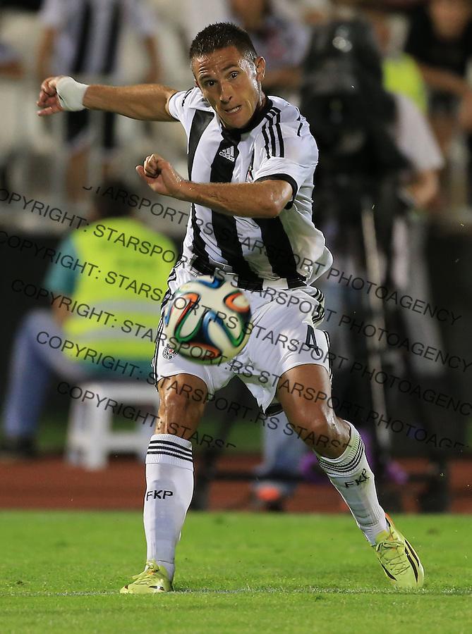 Fudbal Football Soccer<br /> UEFA Champions league-2nd qualifying round<br /> Partizan v HB Torshavn (Faroe Islands)<br /> Miroslav Vulicevic<br /> Beograd, 07.15.2014.<br /> foto: Srdjan Stevanovic/Starsportphoto &copy;