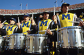 Michigan Wolverines Marching Band plays before the Michigan Wolverines 26-24 defeat of the Ohio State Buckeyes at Ohio Stadium in Columbus, Ohio on 11/22/86. Photo by John D. Hanlon, 25-year photographer for Sports Illustrated.