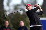 15 April 2016: Louisville's Molly Skapik. The First Round of the Atlantic Coast Conference's Womens Golf Tournament was held at Sedgefield Country Club in Greensboro, North Carolina.
