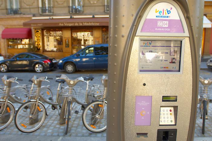 Paris - France - Velib - Hire Bicycles