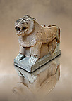 Late Hittite Basalt Portal Lion sculpture from 9th Cent B.C, excavated from Palace Building P Sam'al (Hittite: Yadiya) located at Zincirli H&ouml;y&uuml;k in the Anti-Taurus Mountains of modern Turkey's Gaziantep Province. Istanbul Archaeological Museum inv. No 7777.