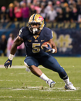 Pitt running back Chris James. The North Carolina Tar Heels football team defeated the Pitt Panthers 26-19 on Thursday, October 29, 2015 at Heinz Field, Pittsburgh, Pennsylvania.