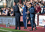 Hearts v St Johnstone&hellip;19.03.16  Tynecastle, Edinburgh<br />Tommy Wright and Callum Davidson applaud their team<br />Picture by Graeme Hart.<br />Copyright Perthshire Picture Agency<br />Tel: 01738 623350  Mobile: 07990 594431