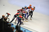 SHORT TRACK: TORINO: 15-01-2017, Palavela, ISU European Short Track Speed Skating Championships, Final Relay Men, Team Italy, Team Hungary, Team Russia, Team Netherlands, ©photo Martin de Jong