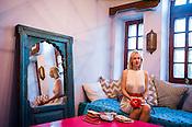 Swedish designer, Sophia Edstrand of Sophia 203 poses for a portrait in her house in Jaipur, Rajasthan, India.