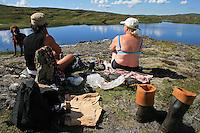 Ved Stortjennin på Høgfjellet, Skarvan og Roltdalen nasjonalpark, Selbu.