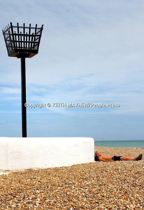 Views of the beach and surrounding area in Bognor Regis, West Sussex on 29th July, 2014. <br /> <br /> Photo by Keith Mayhew