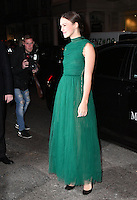 LONDON, ENGLAND - OCT 31: Keira Knightley at Harper's Bazaar annual Women of the Year Awards, which celebrates female high-fliers, at Claridge's on October 31st, 2016 in London, England.<br /> CAP/JOR<br /> &copy;JOR/Capital Pictures /MediaPunch ***NORTH AND SOUTH AMERICA ONLY***