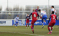 Mauro Zarate of QPR goes close with a header