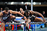 David Oliver (R) and Terrence Trammell from USA compete at 50 meter men Hurdles during the U.S open track & Field in the madison Square Garden in New York, United States. 28/01/2012. Photo by Kena Betancur / viewpress
