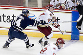 Kyle Ventura (Toronto - 14), Patch Alber (BC - 27) - The Boston College Eagles defeated the visiting University of Toronto Varsity Blues 8-0 in an exhibition game on Sunday afternoon, October 3, 2010, at Conte Forum in Chestnut Hill, MA.