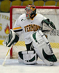 5 January 2007: University of Vermont goaltender Mike Spillane (31) from Bow, NH, warms up prior to a Hockey East matchup against the University of New Hampshire Wildcats at Gutterson Fieldhouse in Burlington, Vermont. The UNH Wildcats defeated the UVM Catamounts 7-1 in front of a record setting 48th consecutive sellout at &quot;the Gut&quot;...Mandatory Photo Credit: Ed Wolfstein Photo.<br />