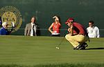 Sergio GARCIA (SPAIN) auf dem 18.Gruen, 4.Runde, 88th PGA Championship Golf, Medinah Country Club, IL, USA