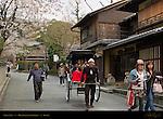 Street Life Higashiyama Foothills near Daiunin Temple Kyoto Japan