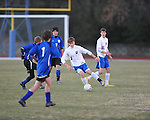 Oxford's James Lear (1) vs. Saltillo in boys high school soccer action at Oxford High School in Oxford, Miss. on Thursday, January 27, 2011.
