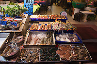 Raw Seafood Display In Phuket Cafe, Thailand